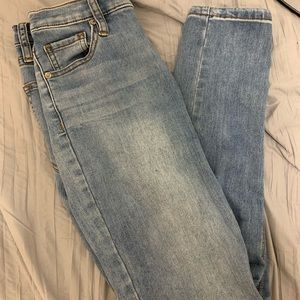 Free people high rise ankle skinny jean